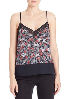FRENCH CONNECTION Lace-Trimmed Floral Tank
