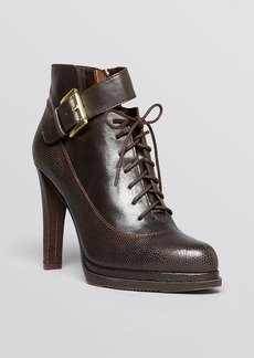 FRENCH CONNECTION Lace Up Platform Booties - Sasha High Heel