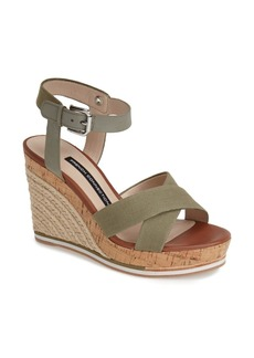 French Connection 'Lata' Ankle Strap Wedge Espadrille Sandal (Women)