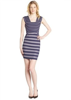 French Connection lavender mist blue striped sleeveless dress