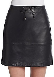 French Connection Leather Mini Skirt