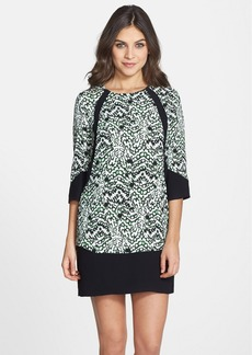 French Connection Leopard Print Crepe Shift Dress