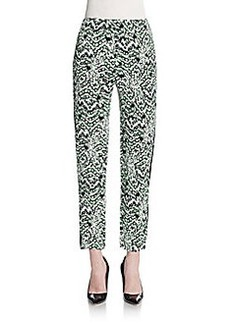 French Connection Leopard-Print Cropped Pants