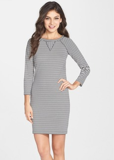 French Connection 'Licorice Lines' Stripe Jersey Shift Dress