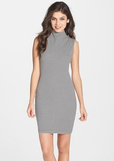 French Connection 'Licorice Lines' Stripe Knit Body-Con Dress