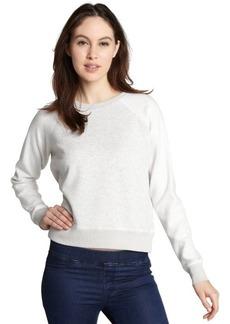 French Connection light grey marled 'Vera' vintage inspired sweatshirt