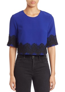 FRENCH CONNECTION Linea Lace Top