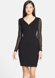 French Connection 'Liv' Sheer Inset Jersey Body-Con Dress