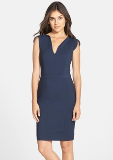 French Connection 'Lolo' Split Neck Sheath Dress