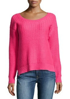 French Connection Long-Sleeve Knitted, Firework Pink