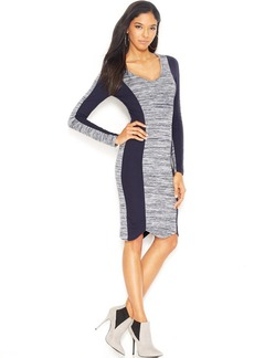 French Connection Long-Sleeve Paneled Dress