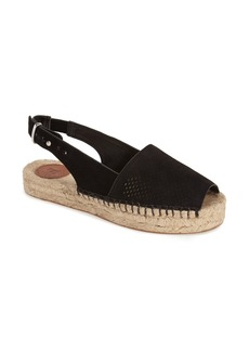 French Connection 'Lucya' Perforated Suede Espadrille Sandal (Women)
