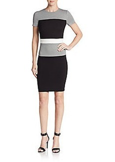 French Connection Lula Block-Stripe Sheath Dress