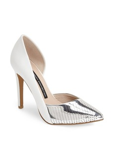French Connection 'Mabel' Perforated Half d'Orsay Pointy Toe Pump (Women)