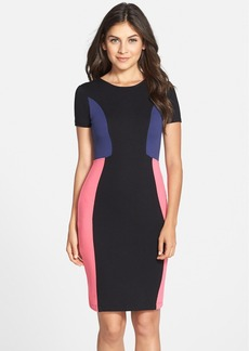 French Connection 'Manhattan' Colorblock Jersey Sheath Dress