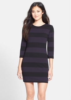 French Connection 'Manhattan Winter' Stripe Knit Sheath Dress