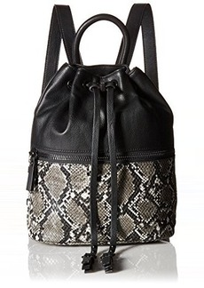 French Connection Mara Backpack, Black/Black White, One Size