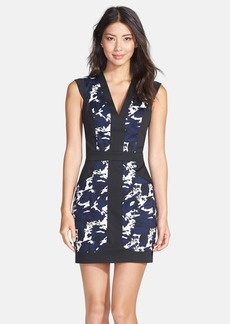 French Connection 'Marble Galactic' Print Sheath Dress