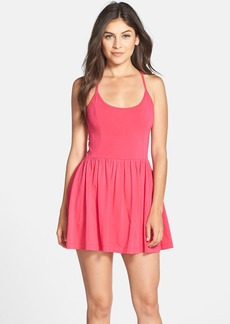 French Connection 'Marina Plains' Cross Back Jersey Skater Dress