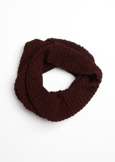 French Connection marled evening wine fisherman knit infinity scarf