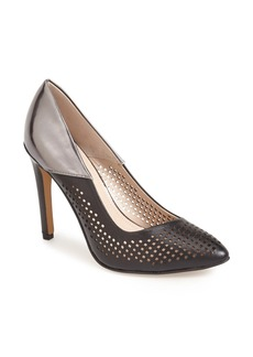 French Connection 'Maya 2' Perforated Two Tone Leather Pump