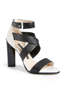 French Connection 'Melody' Elastic & Leather Sandal (Women)
