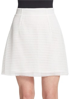 FRENCH CONNECTION Mesh Overlay Mini Skirt
