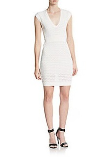 French Connection Miami Danni Scallop-Knit Sheath Dress