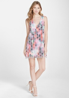 French Connection 'Miami Graffiti' Organza Overlay Print Shift Dress