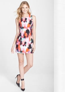 French Connection 'Miami Graffiti' Print Sleeveless Sheath Dress