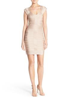 French Connection 'Miami Spotlight' Metallic Bandage Dress