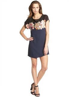French Connection midnight blue 'Aloha' shift dress