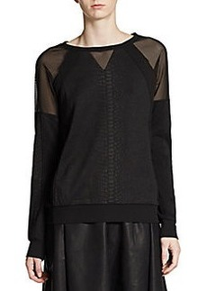 French Connection Milly Mesh Inset Top