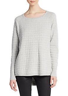 French Connection Mini Milla Waffle-Knit Sweatshirt