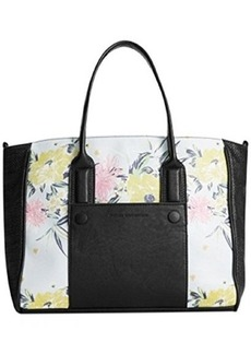 French Connection Mod Squad Med Tote,Ice Blue Floral Multi,One Size