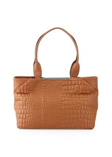 French Connection Monica Croc-Embossed Tote Bag