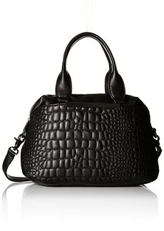 French Connection Monica Satchel Hobo Bag, Black, One Size