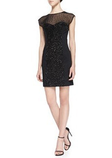 French Connection Moon Dust Dress W/ Sequined Panels