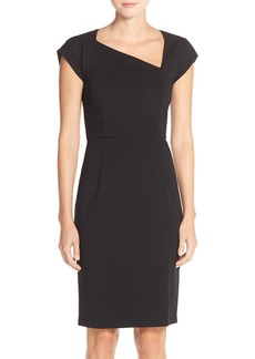 French Connection 'Nadine' Asymmetrical Neck Knit Sheath Dress