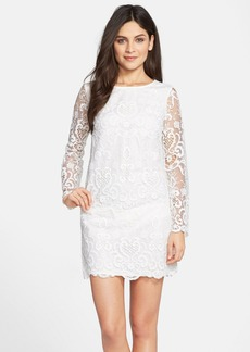 French Connection 'Nebraska' Embroidered Crepe Shift Dress