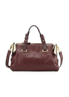 French Connection Nixon Faux-Leather Satchel Bag