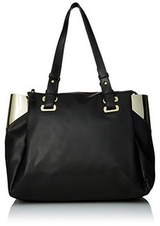 French Connection Nixon Tote Bag, Black/Gold, One Size