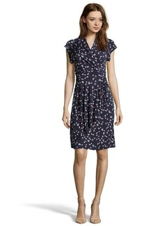 French Connection nocturnal floral print jersey 'Mini Belle' wrap dress