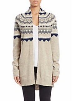FRENCH CONNECTION Open-Front Fair Isle Cardigan Sweater