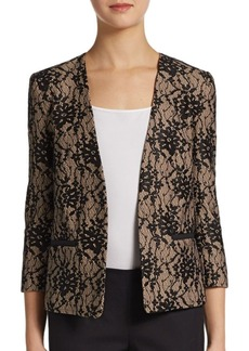 French Connection Open-Front Lace Blazer