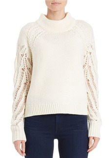 FRENCH CONNECTION Open-Knit Mockneck Sweater