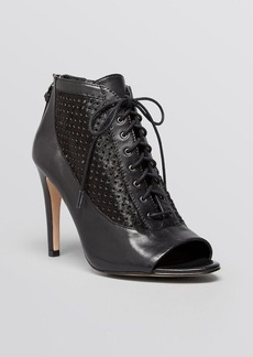 FRENCH CONNECTION Open Toe Booties - Quinnie High Heel
