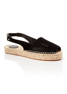 FRENCH CONNECTION Open Toe Slingback Perforated Espadrille Flats - Lucya