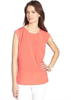 French Connection orange crush stretch 'Polly' classic sleeveless tee