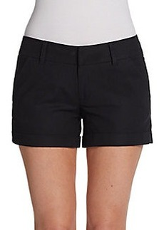 French Connection Outlaw Cuffed Cotton Shorts